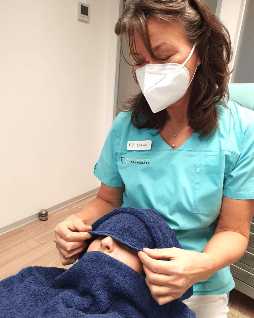 Biologische Zahnreinigung und Entspannunng